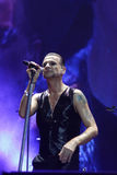 Depeche Mode in concert at the Minsk Arena on Friday, February 28, 2014 in Minsk, Belarus Royalty Free Stock Photos