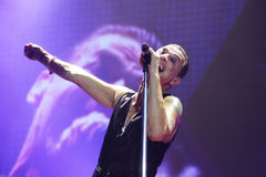 Depeche Mode in concert at the Minsk Arena on Friday, February 28, 2014 in Minsk, Belarus Stock Image