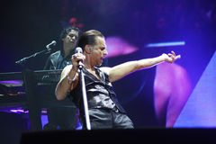Depeche Mode in concert at the Minsk Arena on Friday, February 28, 2014 in Minsk, Belarus Stock Photos