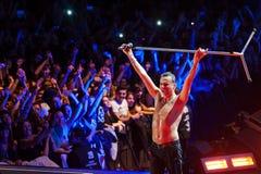 Depeche Mode im Konzert Lizenzfreies Stockfoto