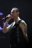 Depeche Mode im Konzert an der Minsk-Arena am Freitag, den 28. Februar 2014 in Minsk, Weißrussland Lizenzfreies Stockbild