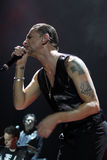 Depeche Mode im Konzert an der Minsk-Arena am Freitag, den 28. Februar 2014 in Minsk, Weißrussland Stockbild