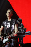 Depeche Mode im Konzert an der Minsk-Arena am Freitag, den 28. Februar 2014 in Minsk, Weißrussland Stockfotografie