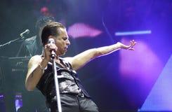 Depeche Mode im Konzert an der Minsk-Arena am Freitag, den 28. Februar 2014 in Minsk, Weißrussland Stockbilder