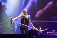 Depeche Mode im Konzert an der Minsk-Arena am Freitag, den 28. Februar 2014 in Minsk, Weißrussland Lizenzfreie Stockfotos