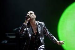 Depeche Mode im Konzert an der Minsk-Arena am Freitag, den 28. Februar 2014 in Minsk, Weißrussland Stockfoto