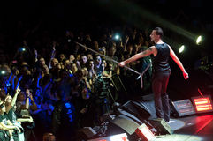 Depeche Mode Live. Depeche Mode in concert in Turin 2014 Photo taken on: February 18th, 2014 stock photos