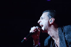 Depeche Mode Live - David Gahan Lizenzfreies Stockfoto