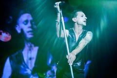 Depeche Mode Live - David Gahan und Martin Gore Lizenzfreie Stockfotos