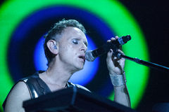Depeche Mode vivo - Martin Gore Imágenes de archivo libres de regalías
