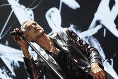 Depeche Mode w koncercie przy Minsk areną na Piątku, Luty 28, 2014 w Minsk, Białoruś Zdjęcia Stock