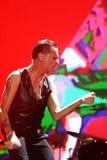 Depeche Mode w koncercie przy Minsk areną na Piątku, Luty 28, 2014 w Minsk, Białoruś Obrazy Stock