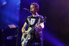 Depeche Mode w koncercie przy Minsk areną na Piątku, Luty 28, 2014 w Minsk, Białoruś Fotografia Stock
