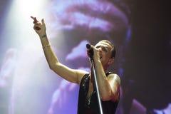 Depeche Mode w koncercie przy Minsk areną na Piątku, Luty 28, 2014 w Minsk, Białoruś Zdjęcie Stock