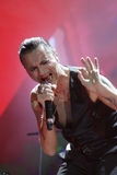 Depeche Mode w koncercie przy Minsk areną na Piątku, Luty 28, 2014 w Minsk, Białoruś Obraz Royalty Free