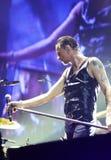 Depeche Mode w koncercie przy Minsk areną na Piątku, Luty 28, 2014 w Minsk, Białoruś Obraz Stock
