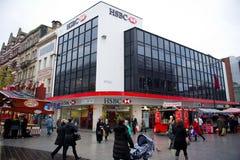 Dependência bancária de HSBC em Liverpool Imagens de Stock