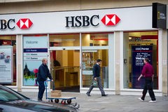 Dependência bancária de HSBC em Londres Fotos de Stock Royalty Free
