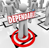 Dependable Word Best Reliable Worker Staff Employee Org Chart Stock Images