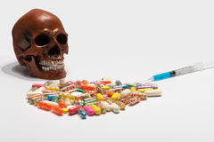 Dependence on drugs stock photography