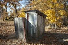 Autumn Outhouse Imagen de archivo libre de regalías