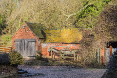Dependencia vieja de la granja Imagen de archivo libre de regalías