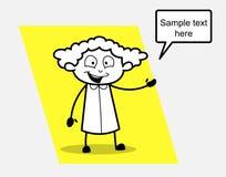 Dependienta feliz Presenting Concept ilustración del vector