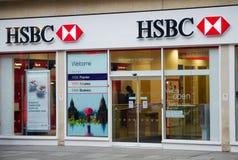Dependência bancária de HSBC em Londres Fotografia de Stock Royalty Free