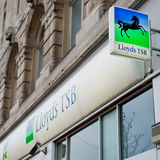 Dependência bancária de Lloyds TSB em Liverpool Fotografia de Stock Royalty Free