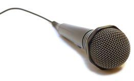 depeszujący karaoke czarny mikrofon Fotografia Stock