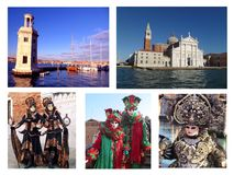 Photomontage representing the city of venice Italy stock images