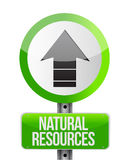 Depicting a sign with a natural resources Royalty Free Stock Photos