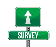Depicting a sign with a survey concept. Stock Images