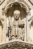 Depiction of the Archbishop of York on York Minster. A stone sculpture of the Archbishop of York on the exterior of the Western facade of York Minster in York Royalty Free Stock Photography
