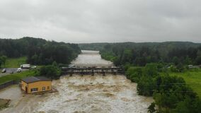 Aerial Footage Of Heavy Flooding