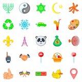 Depiction icons set, cartoon style. Depiction icons set. Cartoon set of 25 depiction vector icons for web isolated on white background royalty free illustration