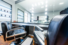 The depiction of nail salon. The interior of depiction of nail salon Stock Images