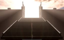 The Stairs To Heavens Gates vector illustration