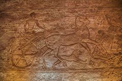 Depiction of Ramesses II in a chariot at the battle of Kadesh