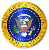 Presedent Seal Depiction On A White Background. A depiction of the seal of the president of the United States of America royalty free illustration
