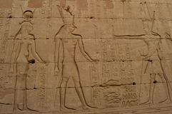 Depictions της αρχαίας Αιγύπτου Στοκ φωτογραφίες με δικαίωμα ελεύθερης χρήσης