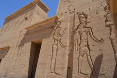 Depictions της αρχαίας Αιγύπτου Στοκ φωτογραφία με δικαίωμα ελεύθερης χρήσης