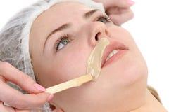 Depilação do bigode Foto de Stock