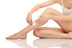 depilaci nóg taśmy target581_0_ Obrazy Stock