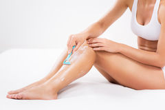 Depilation leg Royalty Free Stock Images