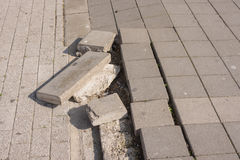 Deplete joint from different bruschatok on the pedestrian mall Royalty Free Stock Photo