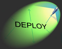 Deploy Deployment Shows Put Into Position And Install Stock Photo