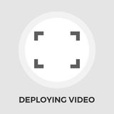 Deploying video vector flat icon. Deploying video icon vector. Flat icon  on the white background. Editable EPS file. Vector illustration Stock Photos