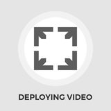 Deploying video vector flat icon. Deploying video icon vector. Flat icon  on the white background. Editable EPS file. Vector illustration Royalty Free Stock Photos