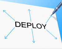 Deployment Deploy Indicates Put Into Position And Dispose. Deploy Deployment Showing Put Into Position And Spread Out Royalty Free Stock Photography